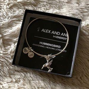 Alex and Ani- Silver- Hummingbird
